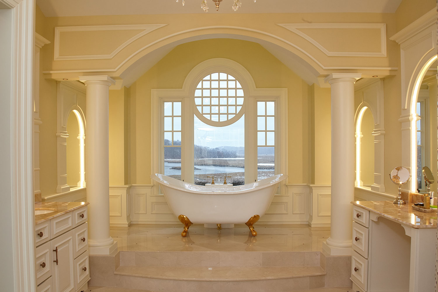Bath Overlooking Window