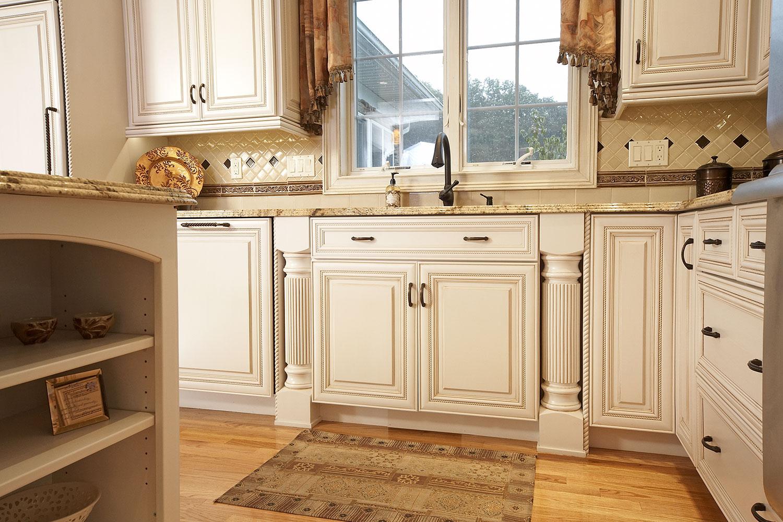 Kitchen Built In Shelf Tile Backsplash