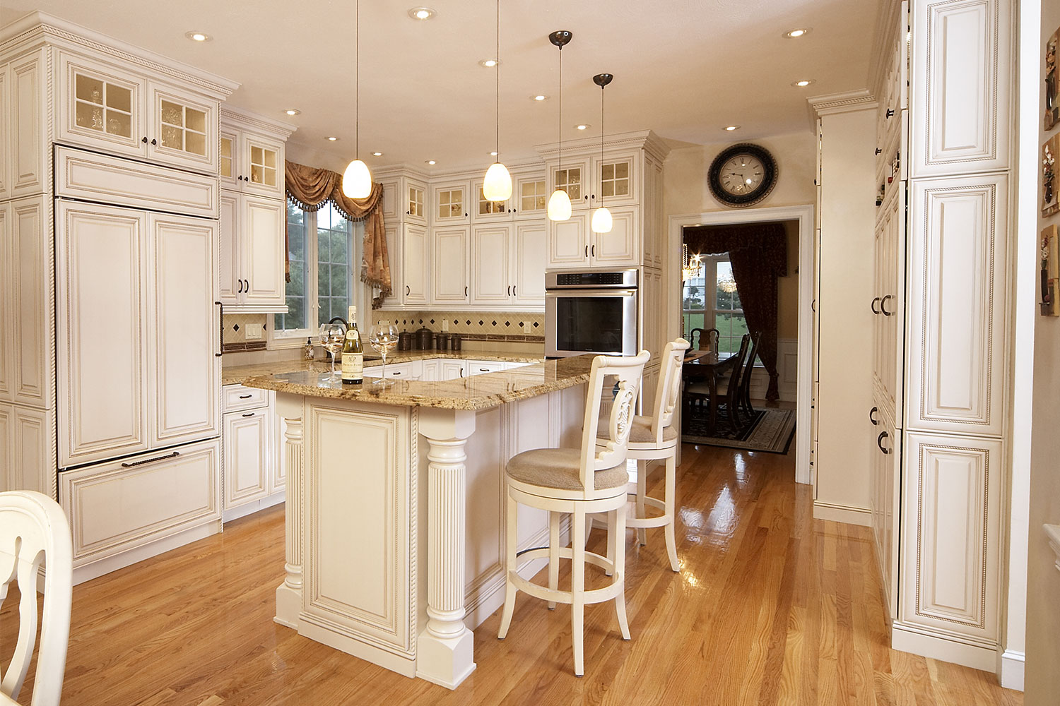 Kitchen Cabinets with Columns
