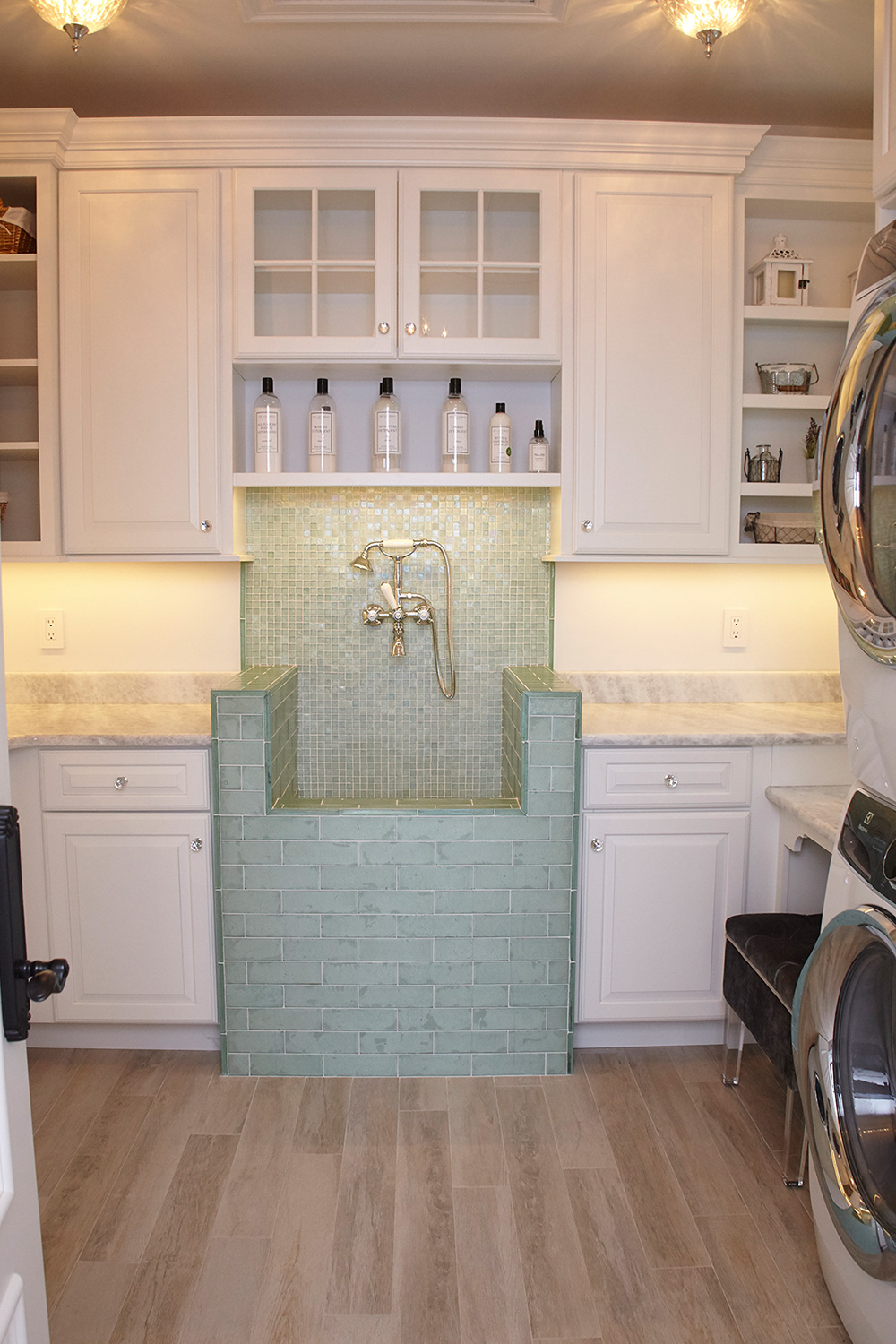 Custom Laundry Room Tile Sink