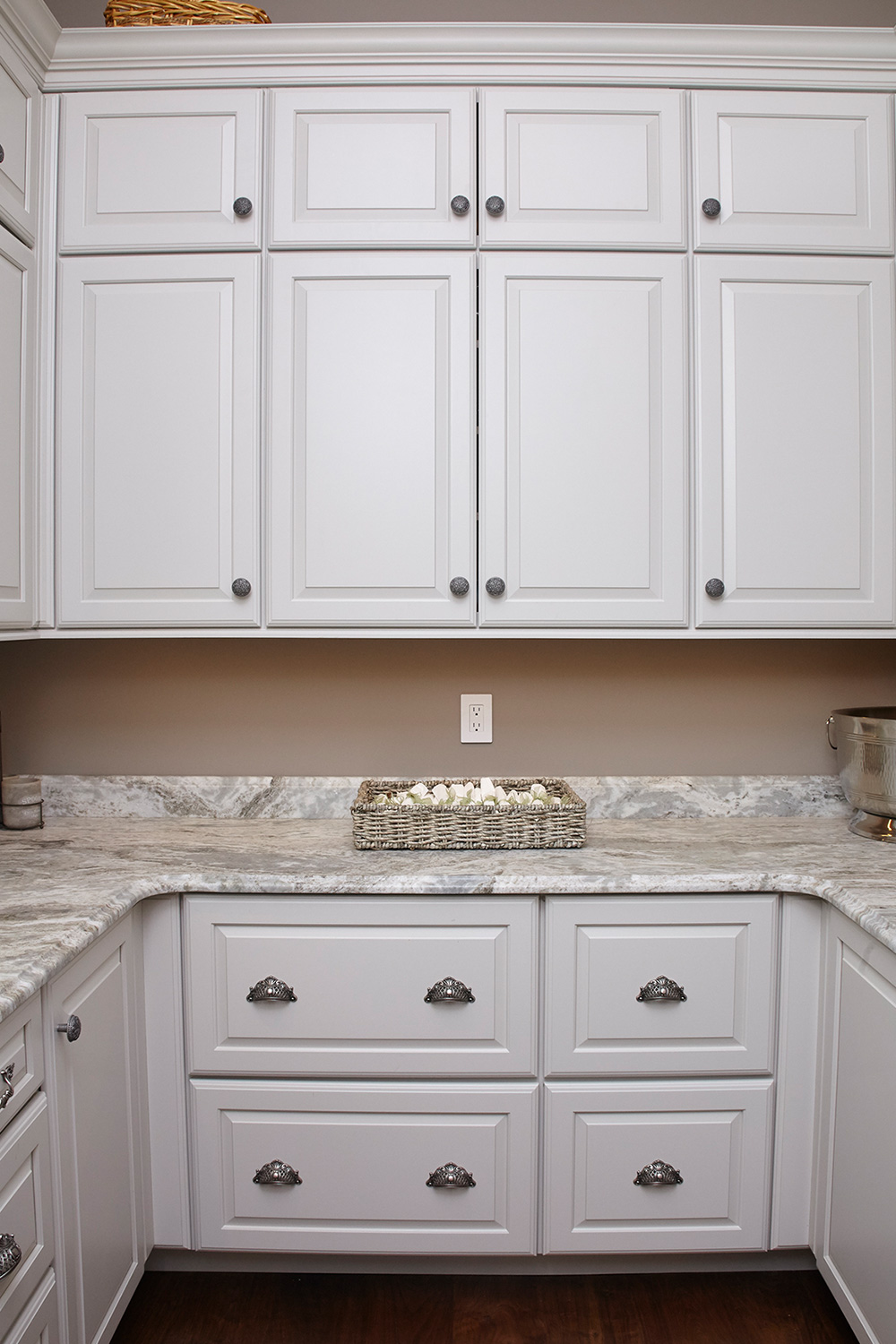 Custom Pantry White Cabinets