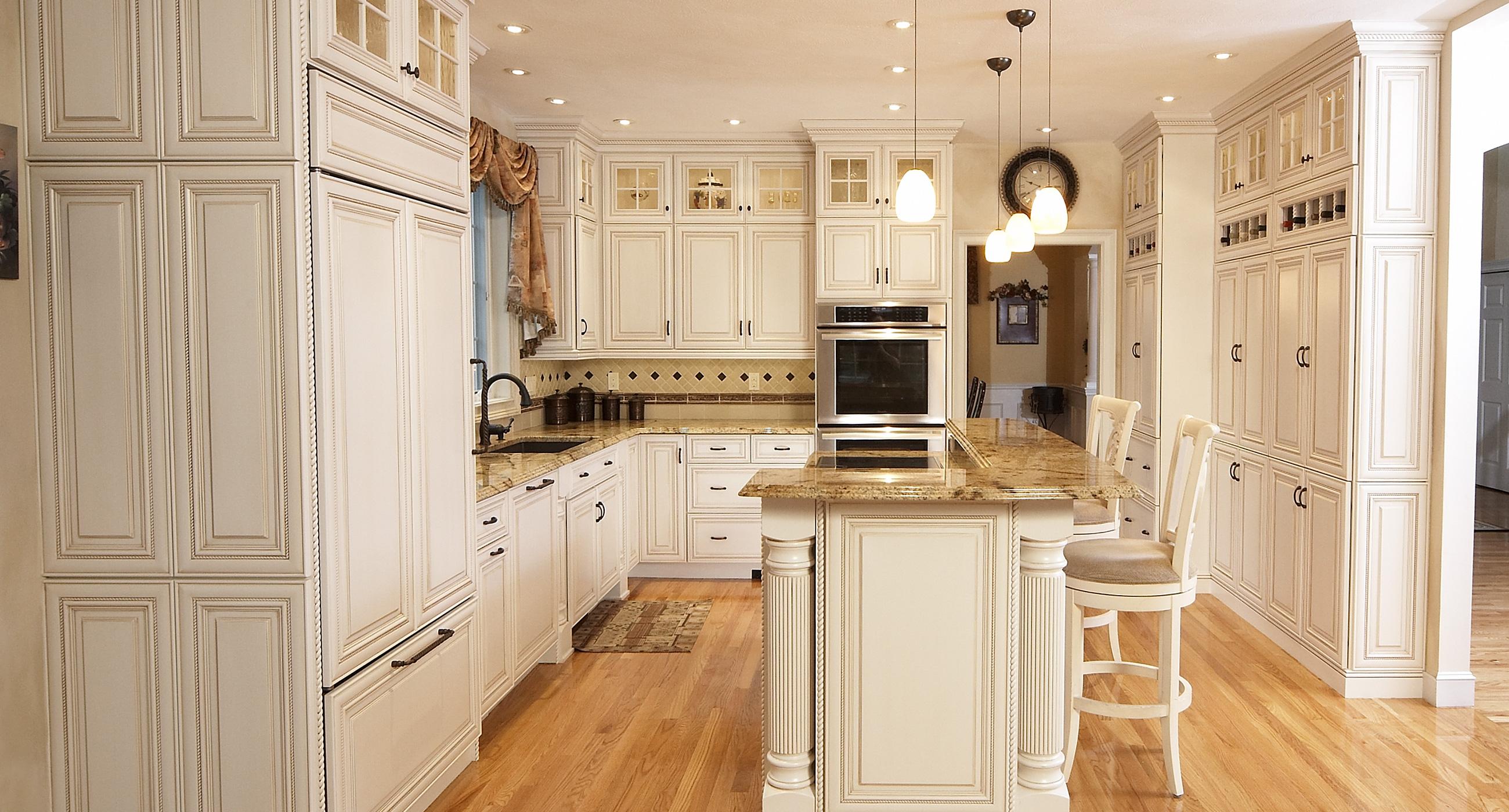 Front White Kitchen Built-in Refrigerator