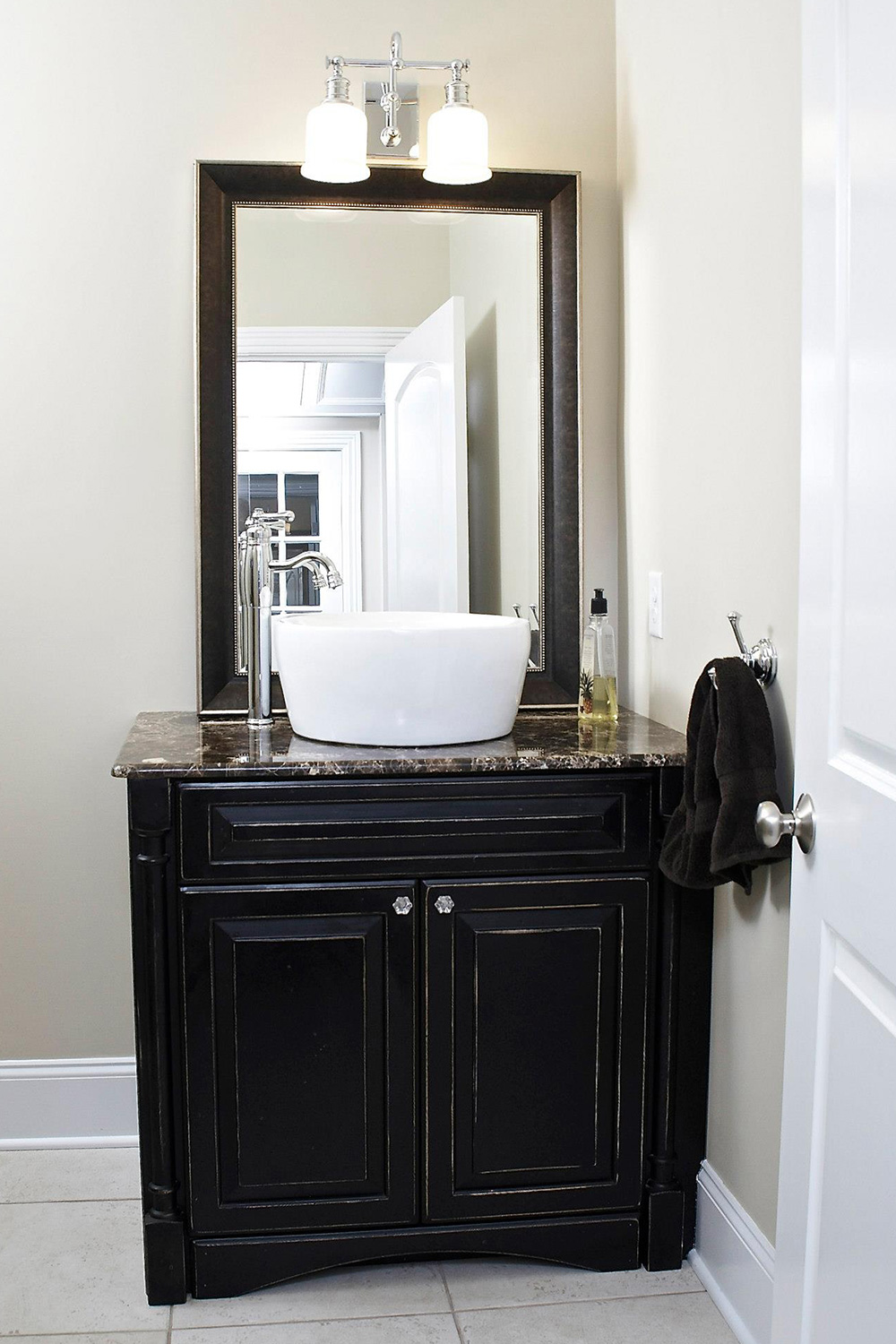Half Bath Vessel Sink