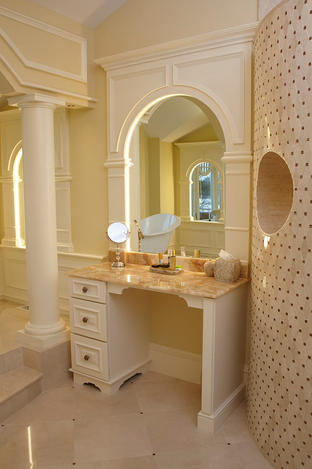 Her Bathroom Makeup Vanity