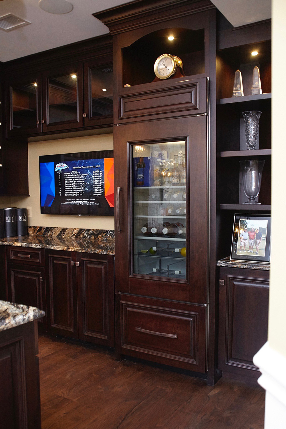 Man Cave Bar Custom Refrigerator
