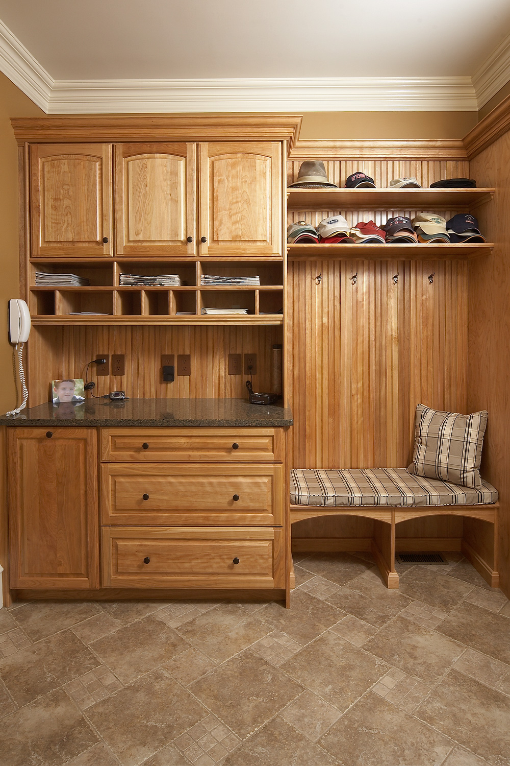 Mudroom with Built-In Bench