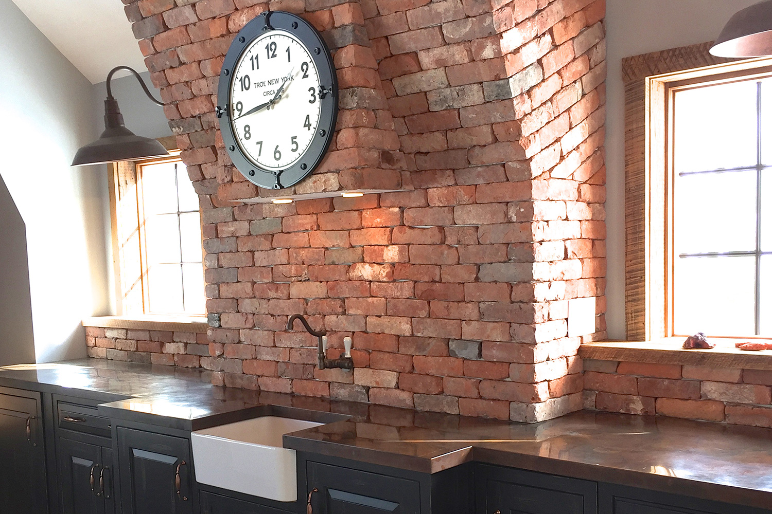 Wet Bar Brick Chimney