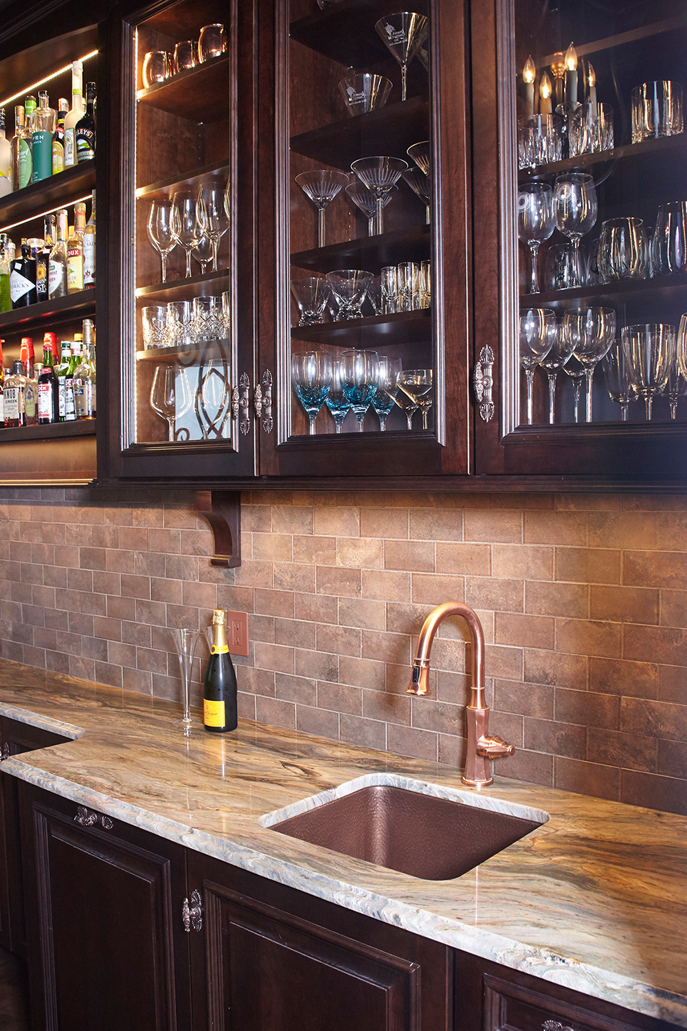 Wet Bar Glass Cabinets