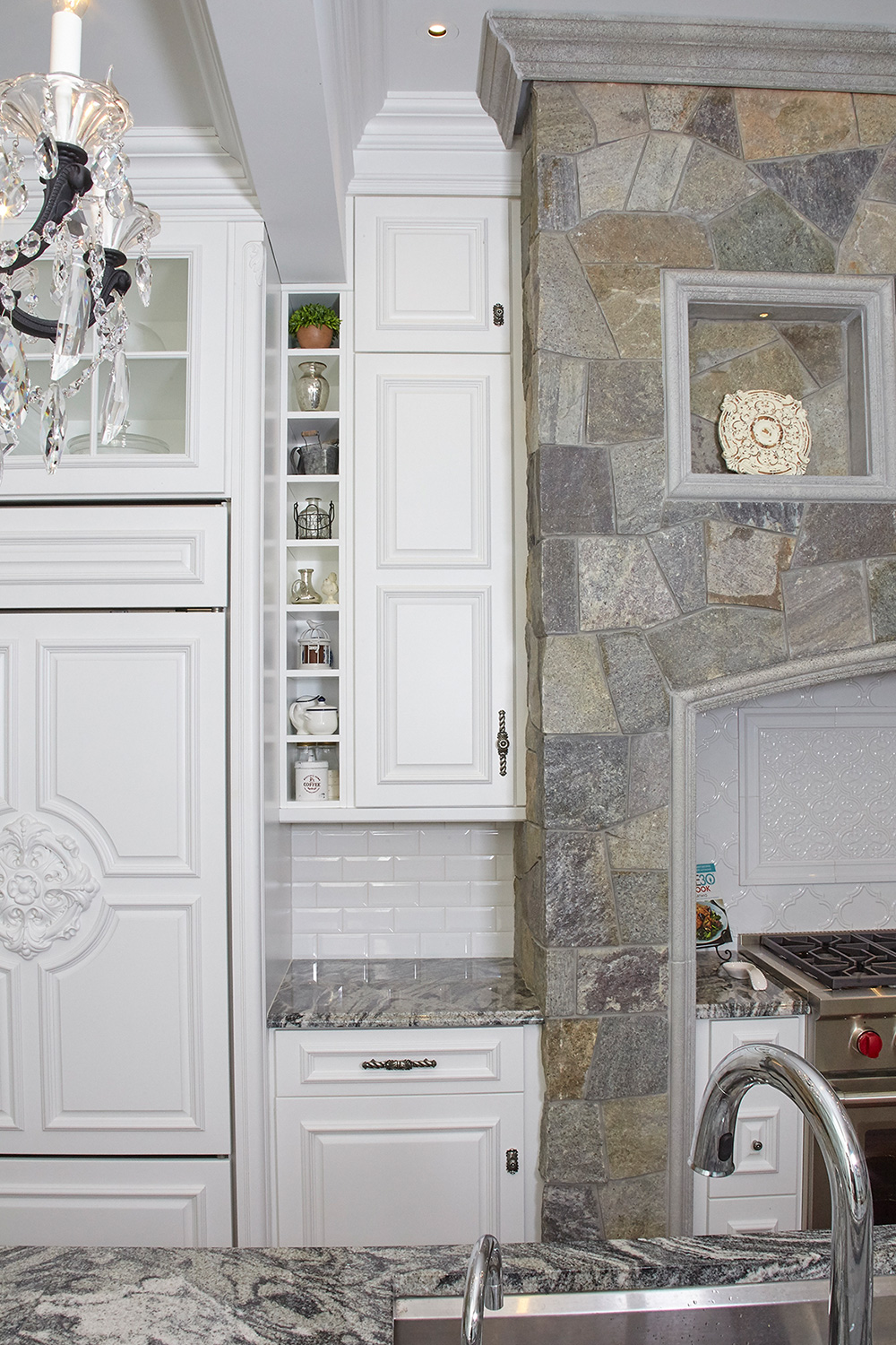 White Kitchen Custom Storage