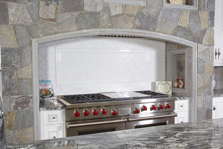 White Kitchen Stone Wolf Range