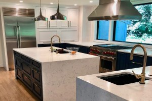 Kitchen Marble Countertop Waterfall Ends